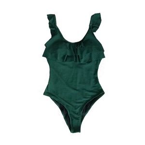 Cupshe NWT Ruffle Green One Piece Bathing Suit